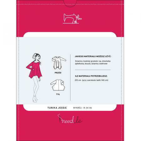 Wykrój na damską tunikę, fig. 2