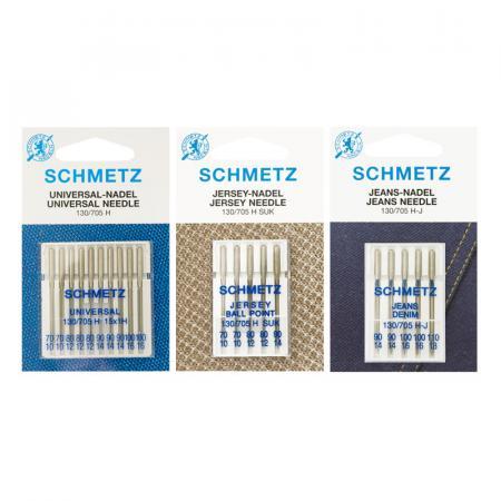 Zestaw igieł Schmetz do tkanin, dzianin i jeansu, fig. 1