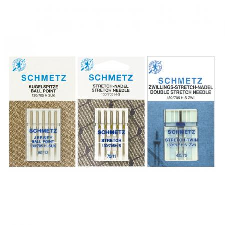Zestaw igieł Schmetz do dzianin, stretchu i igła podwójna, fig. 1