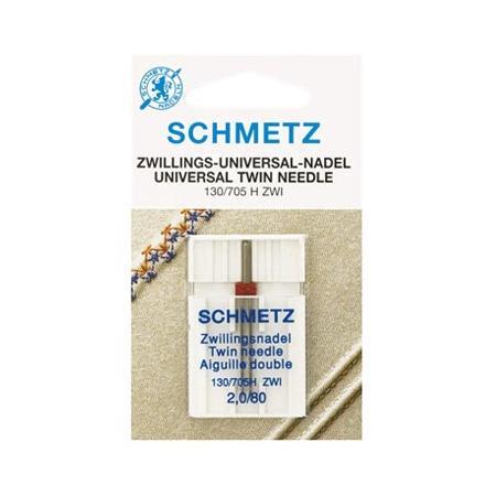 Igła podwójna do maszyn do szycia Schmetz do tkanin 130/705H ZWI (różne rozstawy i grubości), fig. 1