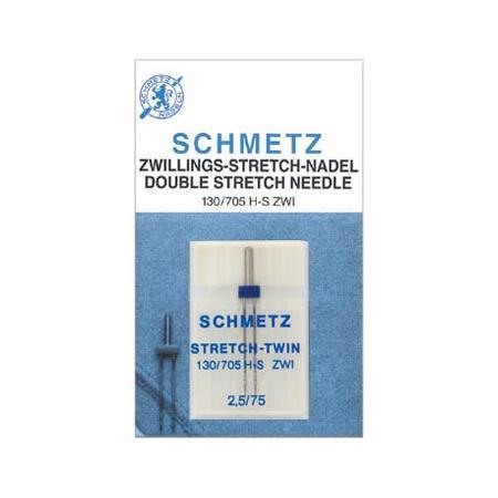 Igła podwójna do maszyn do szycia Schmetz do stretchu 130/705H-S ZWI (różne rozstawy), fig. 1