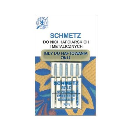 Igły do haftowania nićmi metalicznymi 130/705H DUŻE OKO Schmetz (różne grubości), fig. 1