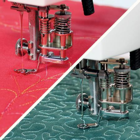Zestaw stopek do pikowania haftowania i cerowania do stebnówki Janome 1600PQC, fig. 1