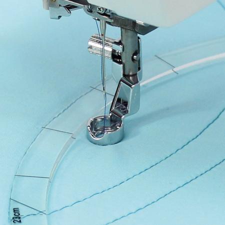 Stopka do pikowania, haftowania, cerowania przy linijce Janome (rotacyjny 9 mm), fig. 1