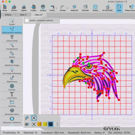 Janome Artistic Digitizer - profesjonalny program do projektowania haftów, fig. 2
