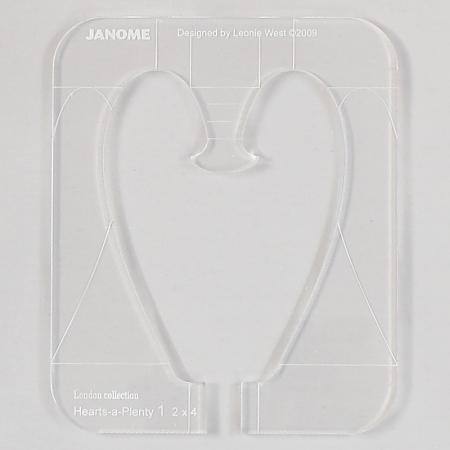 zestaw linijek do pikowania (serce)
