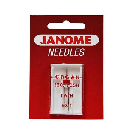 Igła podwójna do maszyn do szycia Janome do tkanin 130/705H TWIN (różne grubości), fig. 1
