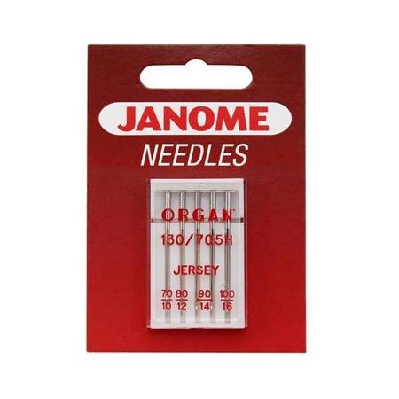 Igły do maszyn do szycia dzianin i materiałów elastycznych 130/705H JANOME (różne grubości), fig. 1