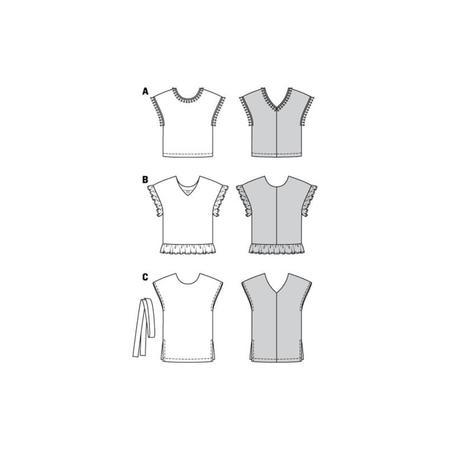 Wykrój BURDA: bluzka zobniżoną linią ramion i dekoltem wszpic zprzodu lub ztyłu, fig. 13