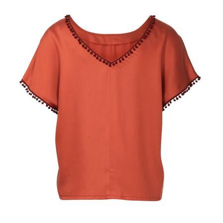 Wykrój BURDA: bluzka zobniżoną linią ramion i dekoltem wszpic zprzodu lub ztyłu, fig. 6