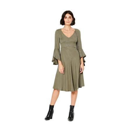 Wykrój BURDA: sukienka wstylu empire zpanelem pod biustem iz rozkloszowaną spódnicą, fig. 3