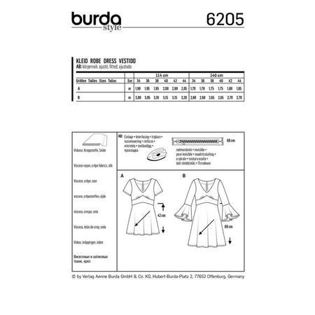 Wykrój BURDA: sukienka wstylu empire zpanelem pod biustem iz rozkloszowaną spódnicą, fig. 8