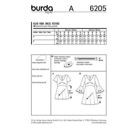 Wykrój BURDA: sukienka wstylu empire zpanelem pod biustem iz rozkloszowaną spódnicą, fig. 9