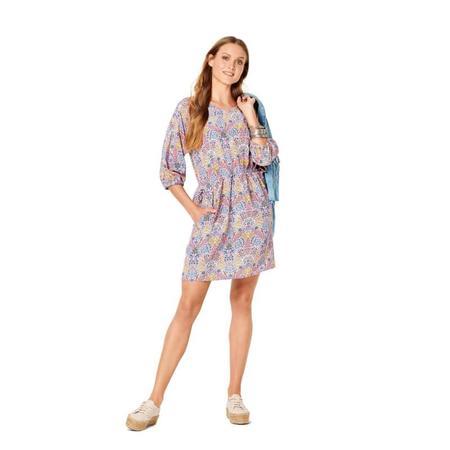 Wykrój BURDA: luźna sukienka zraglanowymi rękawami i tunelem wtalii, fig. 2