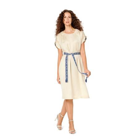 Wykrój BURDA: luźna sukienka zraglanowymi rękawami i tunelem wtalii, fig. 3
