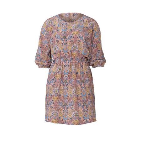 Wykrój BURDA: luźna sukienka zraglanowymi rękawami i tunelem wtalii, fig. 4