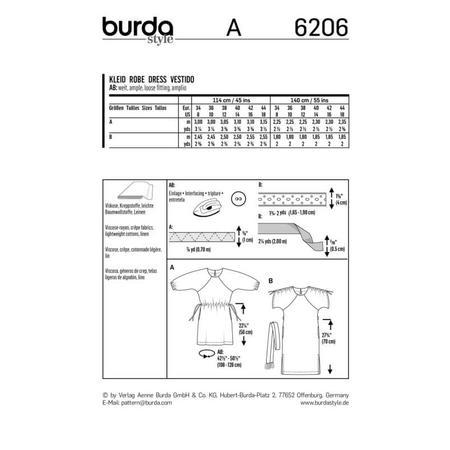 Wykrój BURDA: luźna sukienka zraglanowymi rękawami i tunelem wtalii, fig. 9