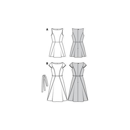 Wykrój BURDA: sukienka zrozszerzaną spódnicą i dekoltem włódkę, fig. 8
