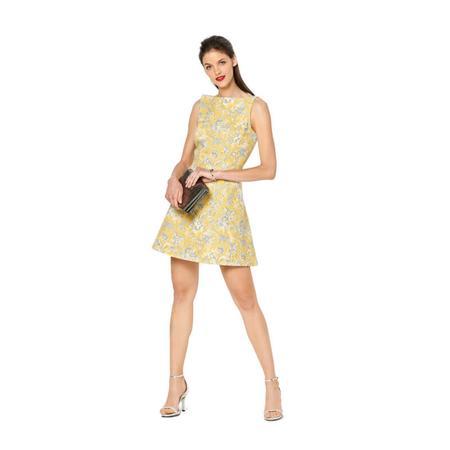 Wykrój BURDA: sukienka zrozszerzaną spódnicą i dekoltem włódkę, fig. 2