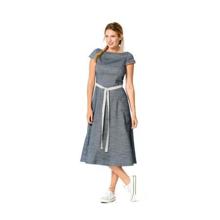 Wykrój BURDA: sukienka zrozszerzaną spódnicą i dekoltem włódkę, fig. 3