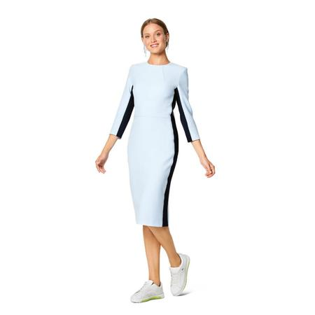 Wykrój BURDA: prosta sukienka z rozporkiem ztyłu, fig. 2