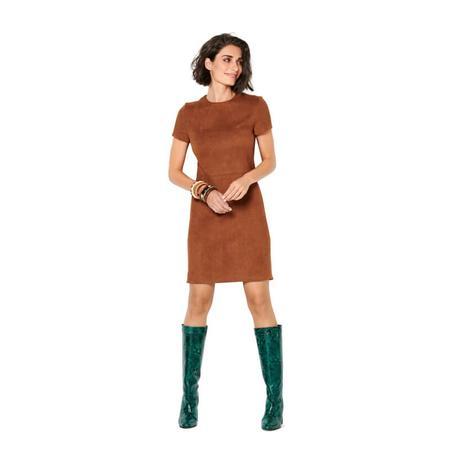 Wykrój BURDA: prosta sukienka z rozporkiem ztyłu, fig. 3