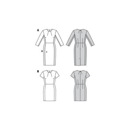 Wykrój BURDA: prosta sukienka z rozporkiem ztyłu, fig. 8
