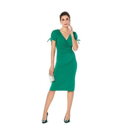Wykrój BURDA: dopasowana sukienka kopertowa, fig. 2