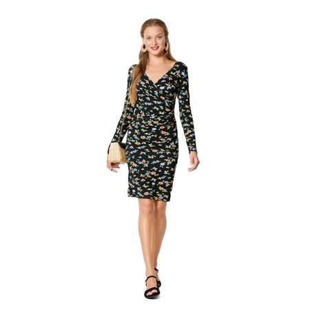 Wykrój BURDA: dopasowana sukienka kopertowa, fig. 3