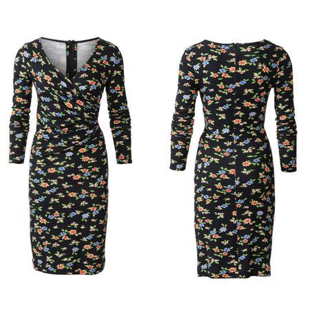Wykrój BURDA: dopasowana sukienka kopertowa, fig. 4