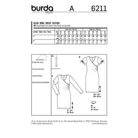 Wykrój BURDA: dopasowana sukienka kopertowa, fig. 7