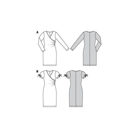 Wykrój BURDA: dopasowana sukienka kopertowa, fig. 8