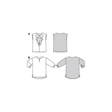 Wykrój BURDA: bluzka o prostym kroju, zwolantem przy dekolcie, fig. 10