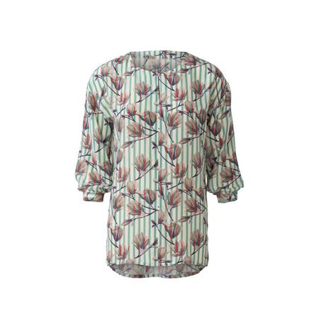Wykrój BURDA: bluzka o prostym kroju, zwolantem przy dekolcie, fig. 6