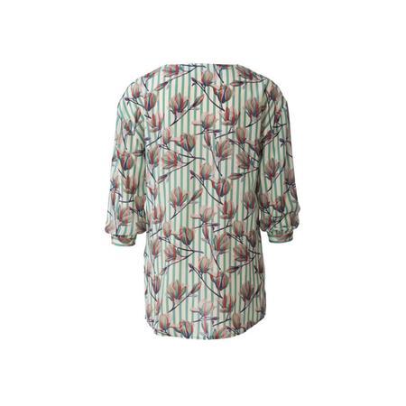 Wykrój BURDA: bluzka o prostym kroju, zwolantem przy dekolcie, fig. 7