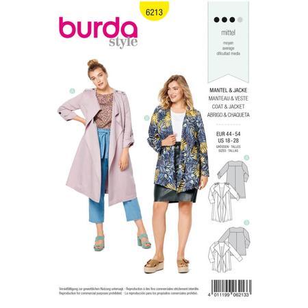 Wykrój BURDA: płaszcz bez kołnierza i zapięcia, fig. 1