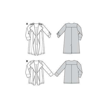 Wykrój BURDA: płaszcz bez kołnierza i zapięcia, fig. 9