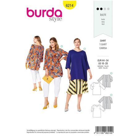 Wykrój BURDA: luźna bluzka z zakładkami ztyłu, fig. 1