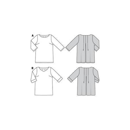 Wykrój BURDA: luźna bluzka z zakładkami ztyłu, fig. 11