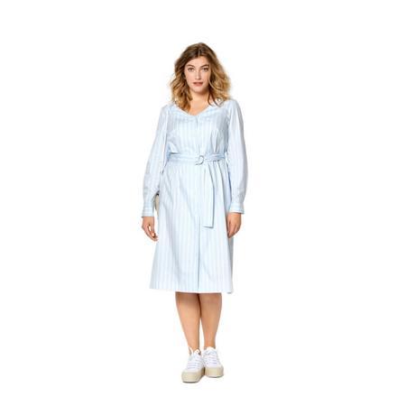 Wykrój BURDA: sukienka zzapięciem na guziki, dekoltem wszpic iwolantami, fig. 2