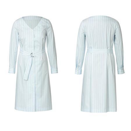 Wykrój BURDA: sukienka zzapięciem na guziki, dekoltem wszpic iwolantami, fig. 5
