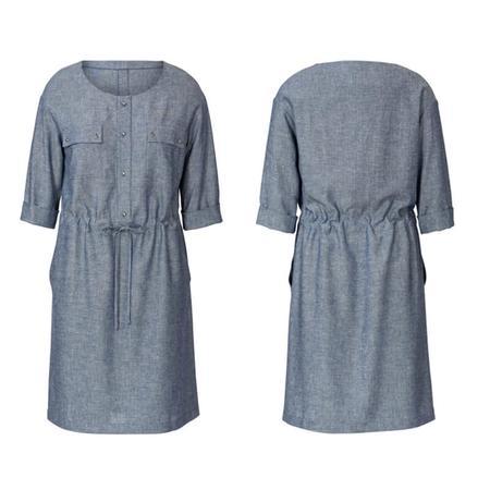 Wykrój BURDA: sukienka zzapięciem zprzodu na guziki oraz panelem wtalii, fig. 4