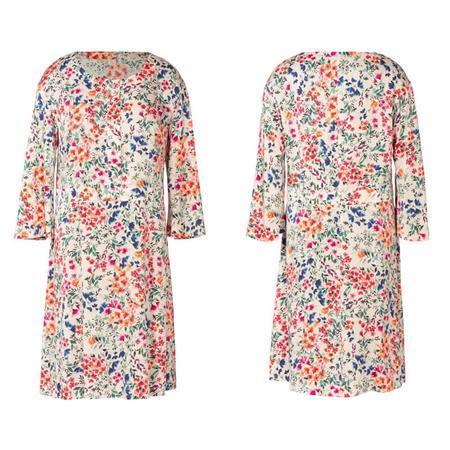 Wykrój BURDA: sukienka zzapięciem zprzodu na guziki oraz panelem wtalii, fig. 5