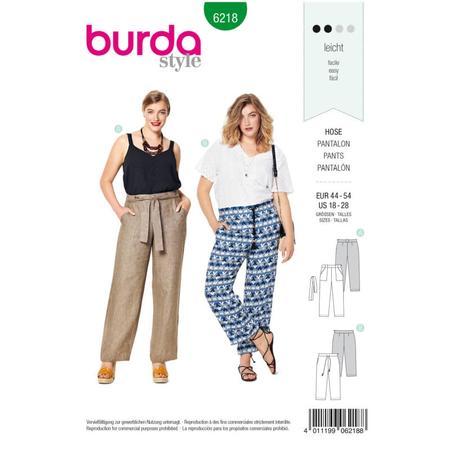 Wykrój BURDA: spodnie o prostym kroju z naszywanymi kieszeniami, fig. 1