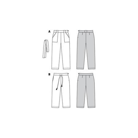 Wykrój BURDA: spodnie o prostym kroju z naszywanymi kieszeniami, fig. 8