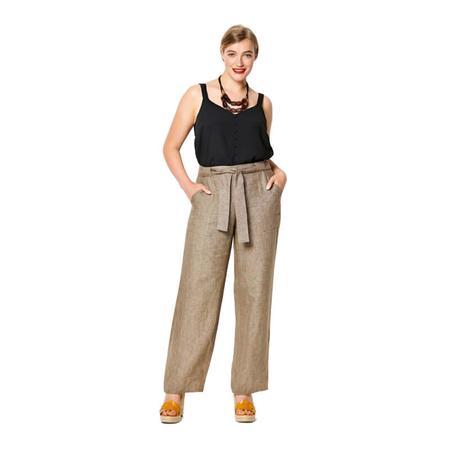 Wykrój BURDA: spodnie o prostym kroju z naszywanymi kieszeniami, fig. 3