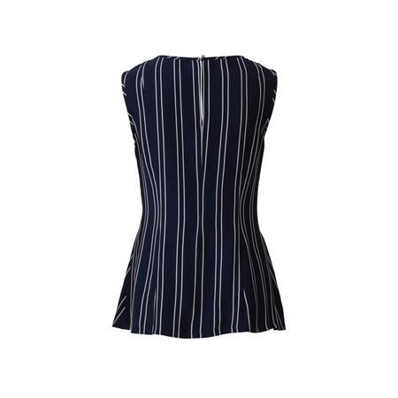 Wykrój BURDA: bluzka bez rękawów, dwuwarstwowa, z paskami wiązanymi zprzodu, fig. 5