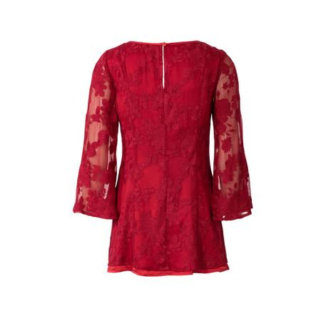 Wykrój BURDA: bluzka bez rękawów, dwuwarstwowa, z paskami wiązanymi zprzodu, fig. 6