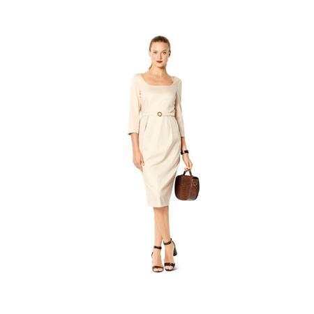 Wykrój BURDA: prosta sukienka zdekoltem karo, fig. 3