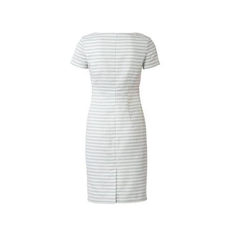 Wykrój BURDA: prosta sukienka zdekoltem karo, fig. 5